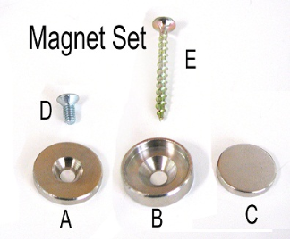 "Magnetic Locking Kit, 3/4""MAGNETS  Item #L200"