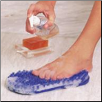 Soapy Soles, Clear Blue, Color RETAIL Package