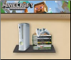 Floating Glass Gaming Console Wall Shelf, WS-100