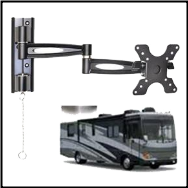403L Locking Portable Cantilever Truck & RV Mount, BLACK
