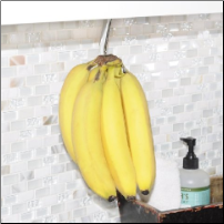 Banana Hook, Chrome in poly bag